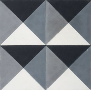Cement geometrico cinza