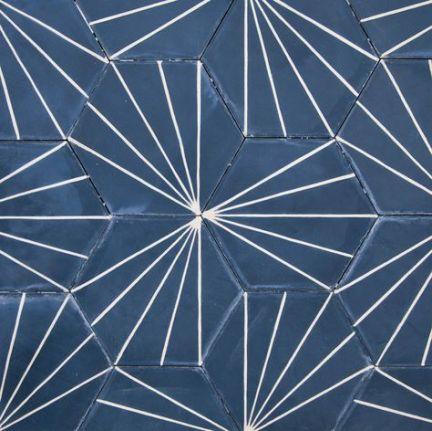 Cement rabiscos azuis