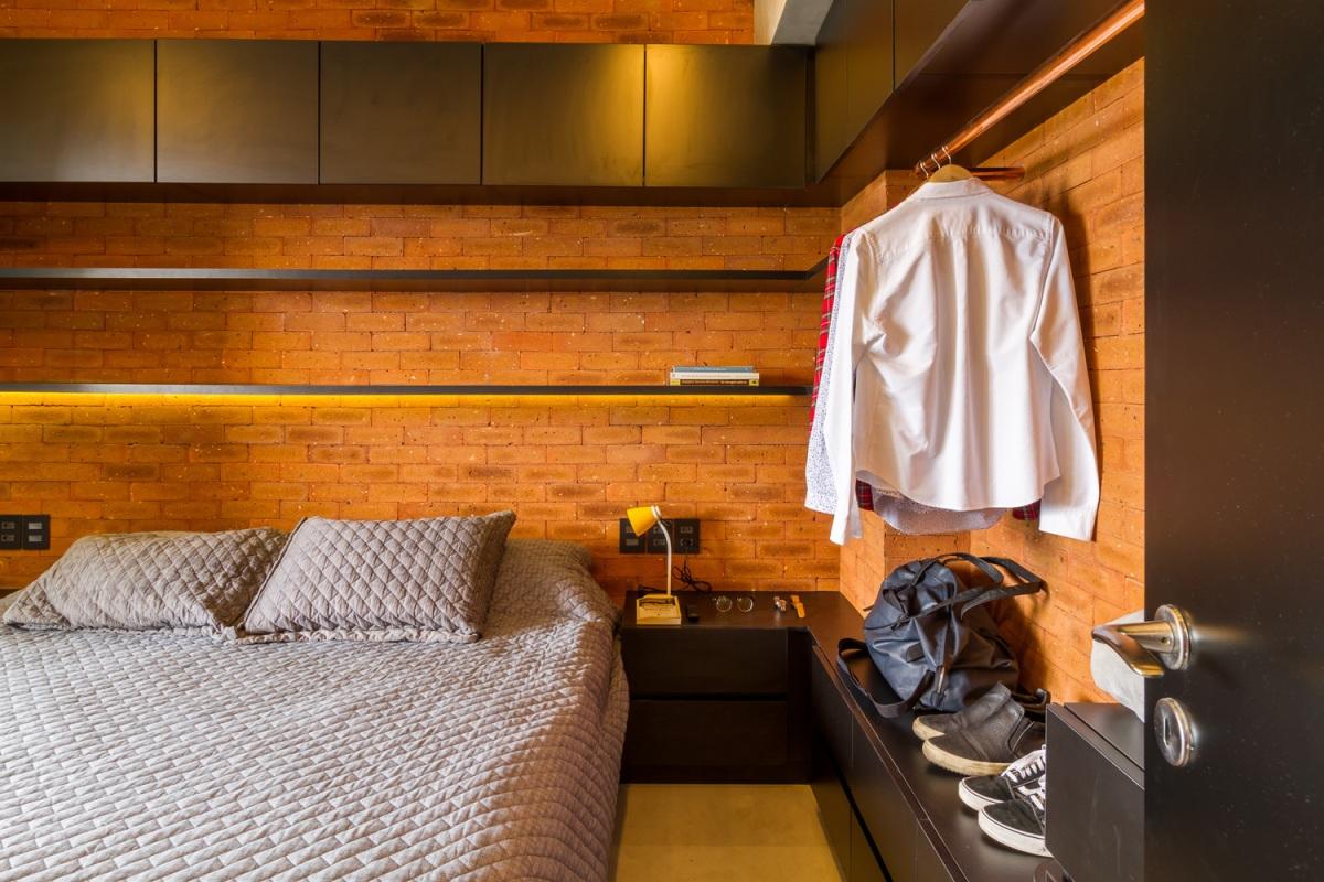 Dormitorio tijolinho